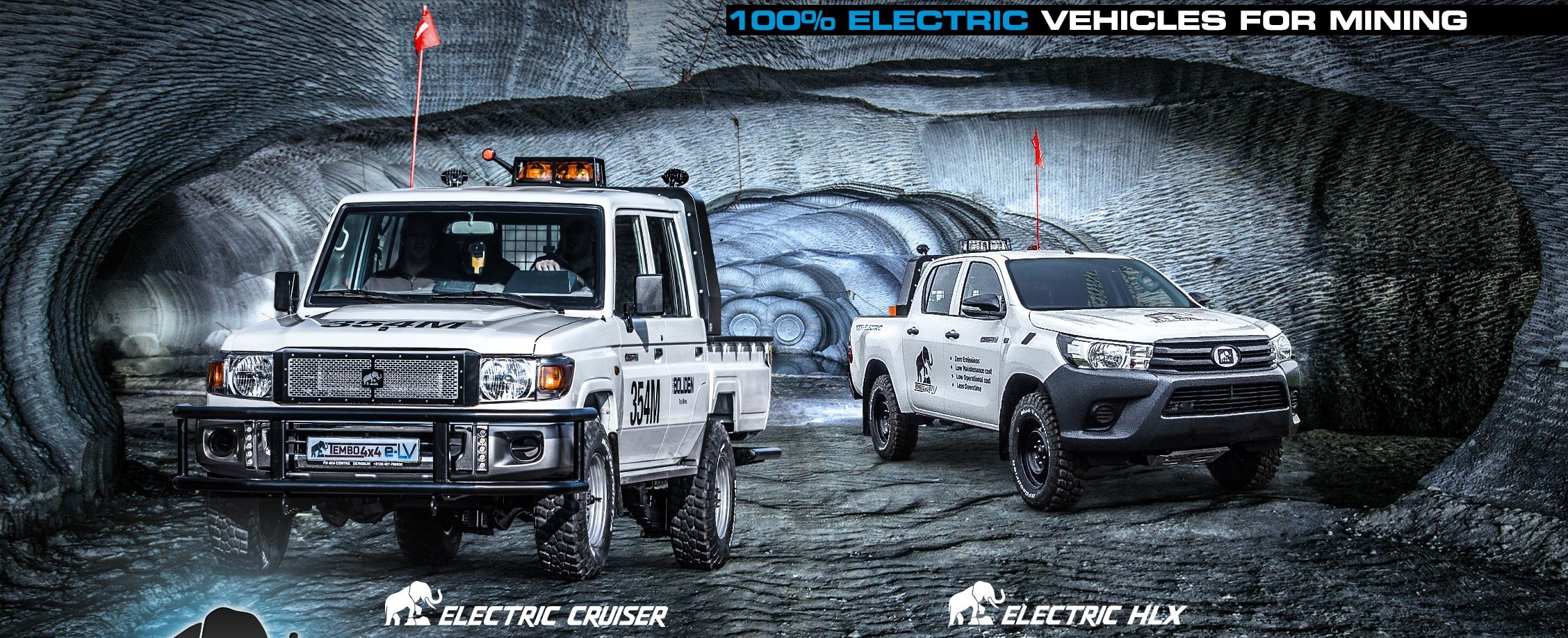 Tembo E Lv The New Standard In Mining Mobility Based On Toyota Land Cruiser Hilux Tembo E Lv Electric Cruiser Electric Hlx